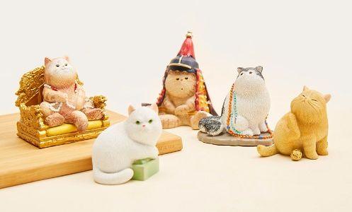 故宮淘寶紫禁城的貓系列。(取自新浪微博@故宮淘寶)