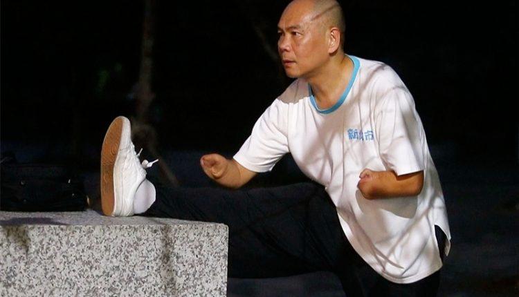 蔡濱鴻勤練太極拳,自我要求,從不間斷。(陳信翰攝)