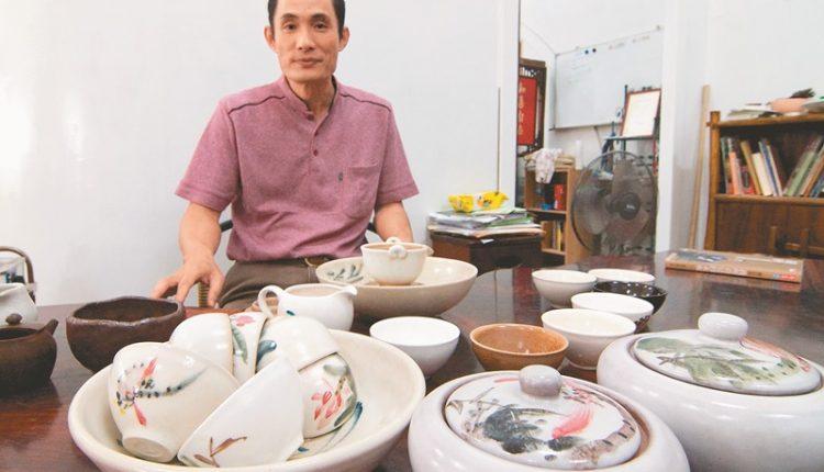 白河陶坊林文嶽所製作的陶器,非常溫潤美麗。(本報資料照片)