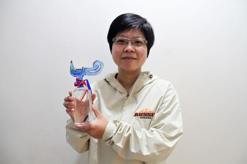 劉柏君為台灣第一位獲得中華民國棒球協會認證的女性裁判,也是首位在運動項目中以非運動員身分獲頒十大傑出女青年獎的女性得主。(本報資料照片)