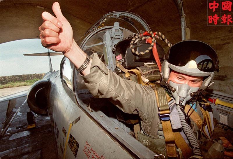 F-104戰機老驥伏櫪,1996年時只剩新竹基地李俊斌中校帶領的混合中隊。(本報資料照片)
